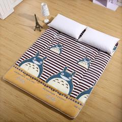 新磨毛床垫 0.9*2.0 龙猫-咖