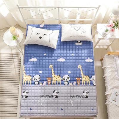 全棉防滑可水洗床褥床護墊 0.9*2.0 動物樂園