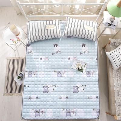 全棉防滑可水洗床褥床護墊 0.9*2.0 親親豬