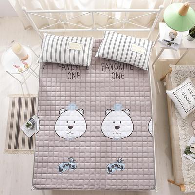 全棉防滑可水洗床褥床護墊 0.9*2.0 熊先生