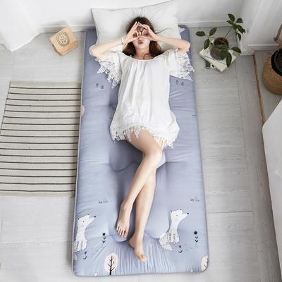 2020新款親膚棉印花學生床墊(兩層棉填充) 0.9*2.0 可愛小狐