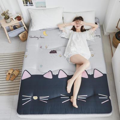 2019親膚棉印花床墊小床圖(兩層棉填充) 0.9*2.0 許愿貓