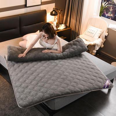 2019新款水晶絨聚能發熱床墊 0.9*2.0 水晶絨-灰色