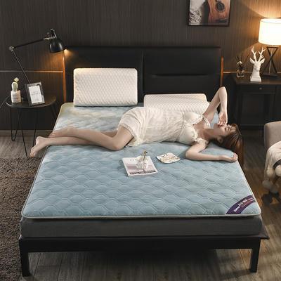 2019新款水晶絨聚能發熱床墊 0.9*2.0 水晶絨-藍色