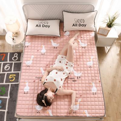 全棉防滑可水洗床褥床護墊 0.9*2.0 沖鴨