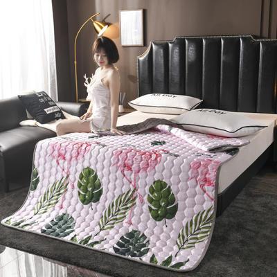 2020夏季空調軟席軟涼席軟床墊子夏天冰絲席夏涼藤席竹席子可折疊機洗床褥床護墊? 0.9*2.0 愛情鳥