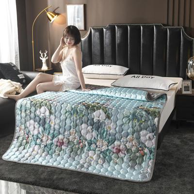 2020夏季空調軟席軟涼席軟床墊子夏天冰絲席夏涼藤席竹席子可折疊機洗床褥床護墊? 0.9*2.0 孔雀