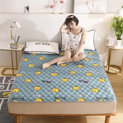 2020春款四季印花親膚棉防滑床墊床褥床護墊榻榻米墊可折疊水洗保護墊? 0.9*2.0 蛋黃派