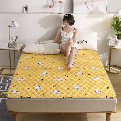 2020春款四季印花親膚棉防滑床墊床褥床護墊榻榻米墊可折疊水洗保護墊? 0.9*2.0 她的貓