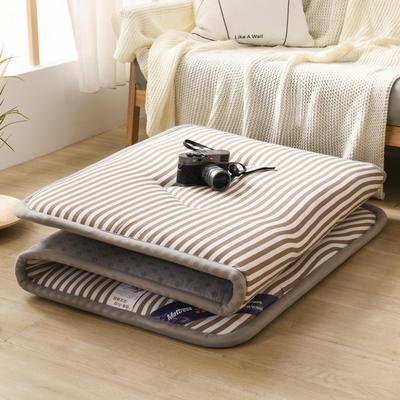 2020水洗棉寬邊床墊  學生墊 0.9*2.0 寬邊咖條