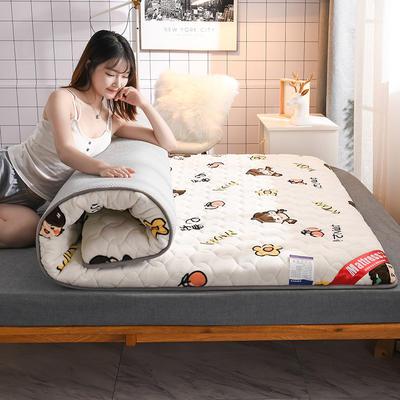 2020新款加厚牛奶绒保暖床垫 1.0*2.0m 加厚小仙女