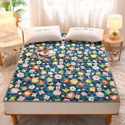 2020新款加厚牛奶绒保暖床垫 1.0*2.0m 软垫花弄影
