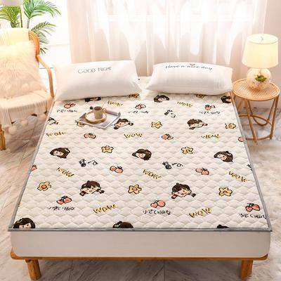 2020新款加厚牛奶绒保暖床垫 1.0*2.0m 软垫小仙女