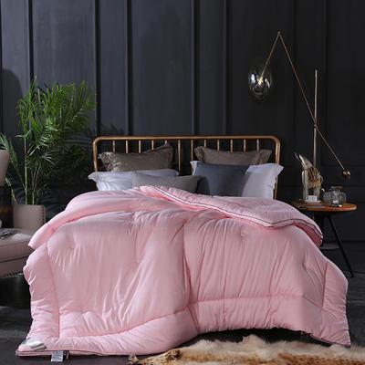 2019全棉贡缎立体被被子 200X230cm  8斤 粉色