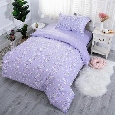 2019新款13372三件套 1.2m(4英尺)床 爱的花海-紫