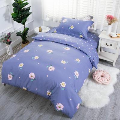 2019新款13372三件套 1.2m(4英尺)床 朵拉花语-紫