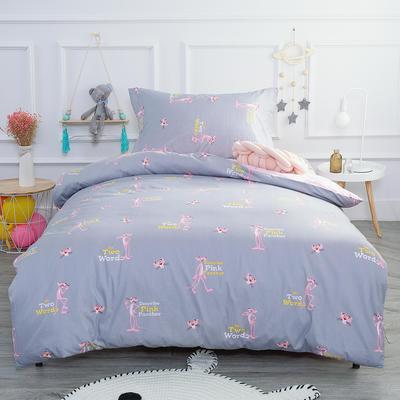 2019新款13372三件套 1.2m(4英尺)床 粉红顽皮豹