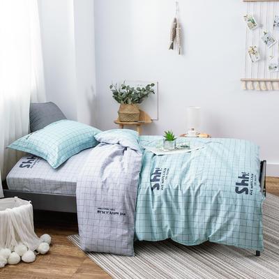 2019新款13372三件套 1.2m(4英尺)床 极有家-绿