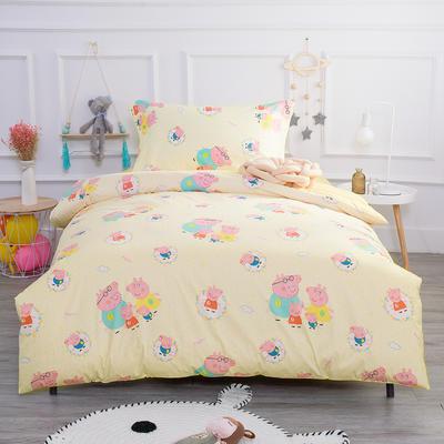 2019新款13372三件套 1.2m(4英尺)床 小猪佩奇-黄