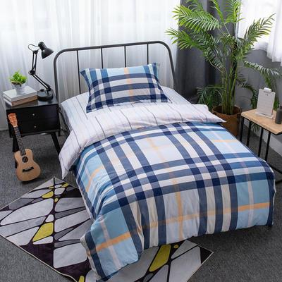 2019新款13372三件套 1.2m(4英尺)床 印象-蓝