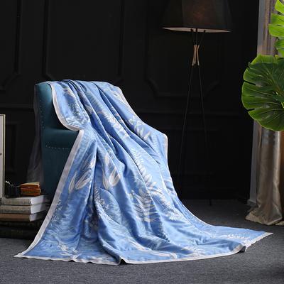 2019新款40S天丝宽边夏被 200X230cm 素静生活-蓝