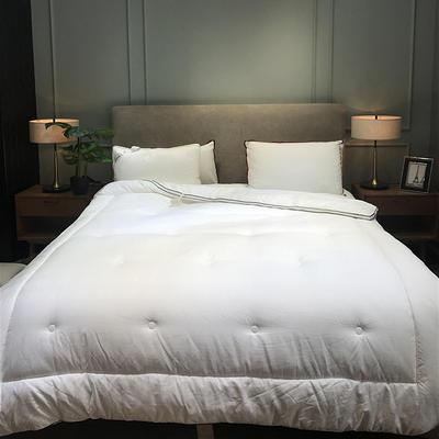 2019新款全棉贡缎立体被冬被被子被芯 (实拍) 2.0m8斤 立体白