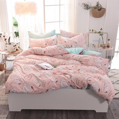水洗棉四件套 1.2m床/床单款 斑点狗