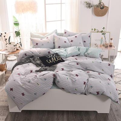 水洗棉四件套 1.2m床/床单款 蝙蝠之翼