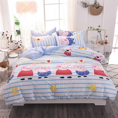 水洗棉四件套 1.2m床/床单款 小猪佩奇