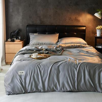 2019新款水洗真丝天丝四件套 1.2m(4英尺)床三件套 高级灰
