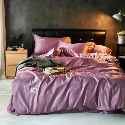 2019新款水洗真丝天丝四件套 1.2m(4英尺)床三件套 魅惑紫