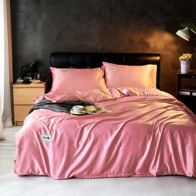 2019新款水洗真丝天丝四件套 1.2m(4英尺)床三件套 橡皮红