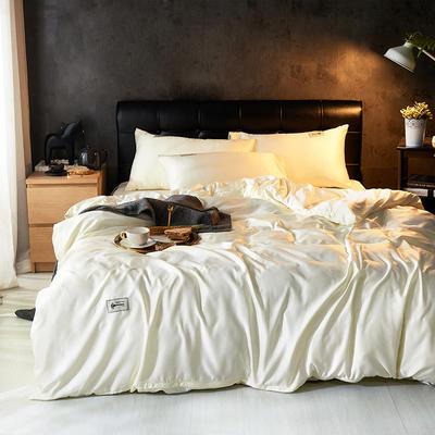 2019新款水洗真丝天丝四件套 1.2m(4英尺)床三件套 优雅白