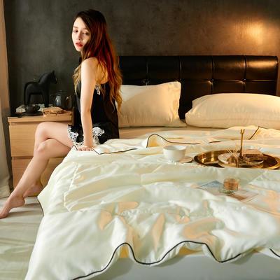 2019新款水洗真丝夏被四件套(模特图) 150*200cm单夏被 优雅白