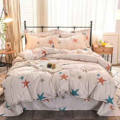 2019新款植物羊绒四件套 1.8m(6英尺)床 快乐星球