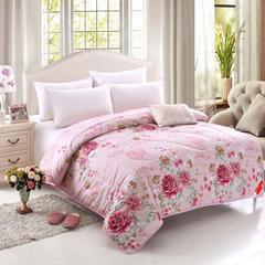 豪爱家纺 冬被防雨布羊毛被秋冬被芯 200X230cm5斤 粉色