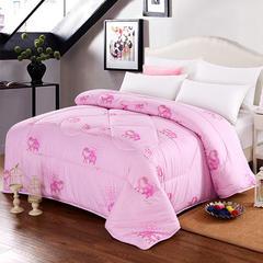 豪爱家纺 珠光浆羊毛被2米多规格可定做 200X230cm4斤 粉色