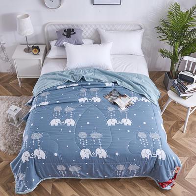 2019新款-水洗棉印花夏被 150x200cm 小象