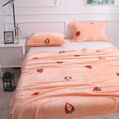2018品乐260克印花毛毯子 1.2*2.0/一条 草莓