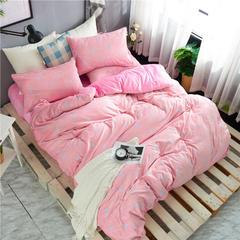 2018新棉绒微芙绒宝宝绒水晶绒法莱绒保暖四件套 1.5m(5英尺)床 回忆空间-粉