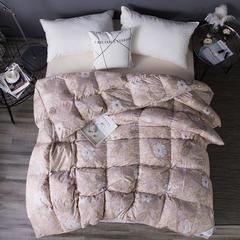磨毛印花白鸭绒被 200X230cm 磨毛印花-粉
