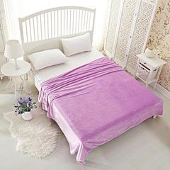 沐恩毯业 法莱绒(每平方200克)毛毯毯子 120*200 浅紫