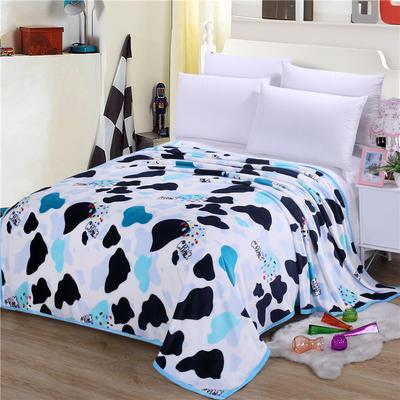 雪貂绒(每平方300克)毛毯毯子 120*200 疯狂奶牛