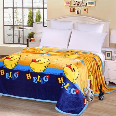 雪貂绒(每平方300克)毛毯毯子 120*200 大黄鸭