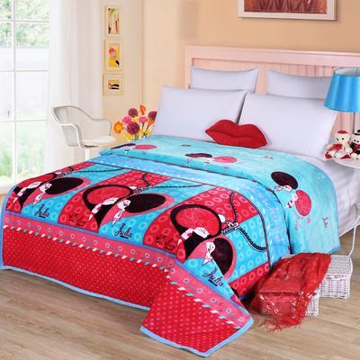 雪貂绒(每平方300克)毛毯毯子 120*200 两小无猜