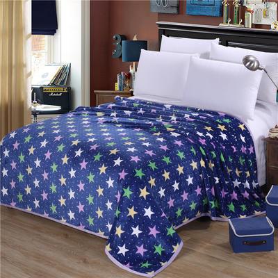 雪貂绒(每平方300克)毛毯毯子 120*200 满天星辰