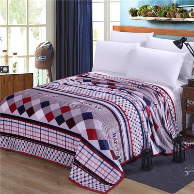 雪貂绒(每平方300克)毛毯毯子 120*200 米兰风