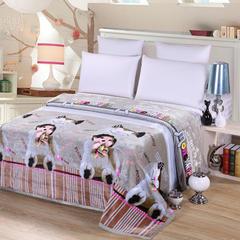 沐恩毯业 雪貂绒(每平方300克)毛毯 120*200 陪伴
