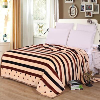 雪貂绒(每平方300克)毛毯毯子 120*200 时尚条纹