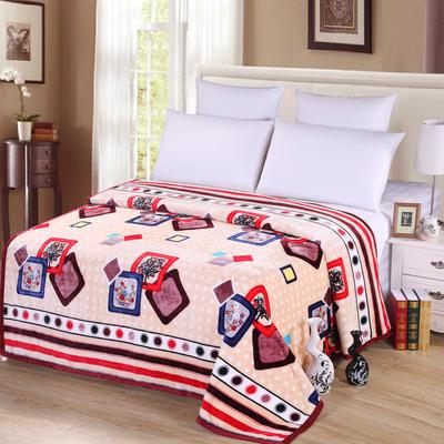 雪貂绒(每平方300克)毛毯毯子 120*200 时尚相框